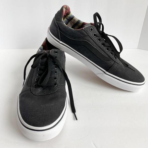 VANS Men's Lace Up Low Top Grey/Back/White Old Skool Skate Shoe Sneakers sz 10